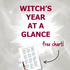 Witch's Year at a Glance 2019