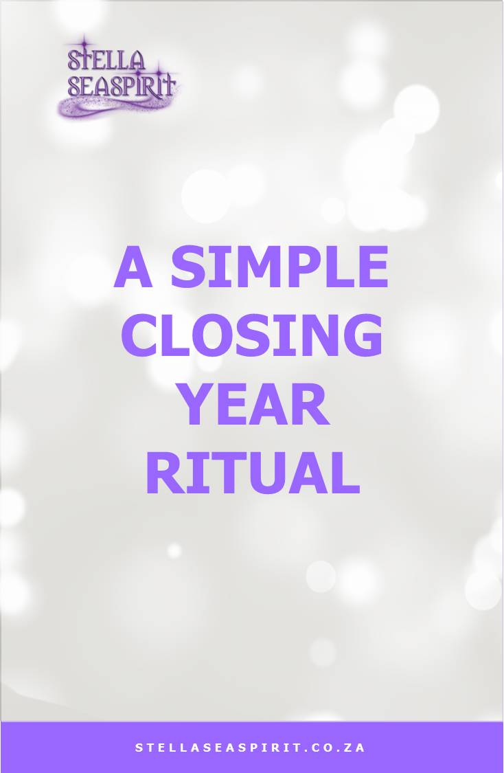 A Simple Closing Year Ritual