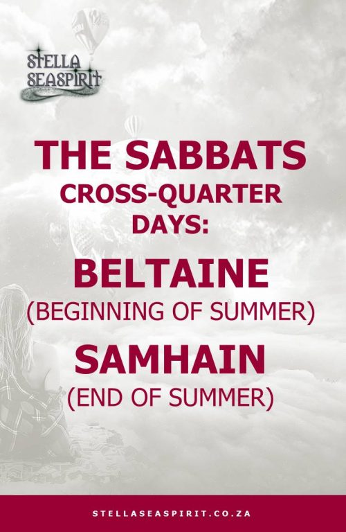Sabbats Beltane and Samhain | www.stellaseaspirit.co.za