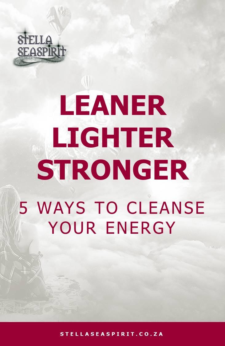 ways to cleanse your energy field | www.stellaseaspirit.co.za